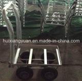 Trole de alumínio de quatro rodas da mão do jardim de Tc4516al