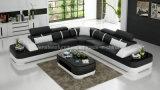 Sofa en forme de L à extrémité élevé grand de G8026b