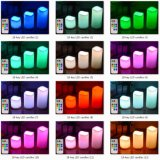 color teledirigido 18-Key que cambia velas del LED