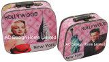 S/2 de l'impression de la conception de Marilyn Monroe décoratifs cuir synthétique/sac de stockage en bois MDF de la poitrine