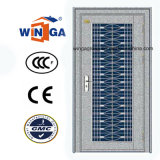 China-Art-Außeneingangs-Edelstahl-Sicherheits-Glastür (W-GH-23)