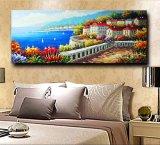 Pittura a olio mediterranea della tela di canapa della maschera della parete del fiore dell'illustrazione europea di stile