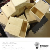 Rectángulo de regalo de madera del color natural inacabado de Hongdao con deslizar el _E del precio al por mayor de la tapa