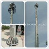 De kegel Monopole Toren van de Antenne van de Microgolf van de Telecommunicatie met Platforms