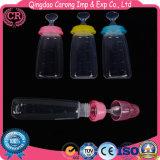 Бутылка фидера младенца штрангя-прессовани инструмента силикона подавая с ложкой