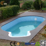 Suelo de Arrounding WPC de la piscina