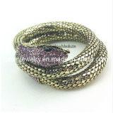 Snake joyas Pulsera de aleación de zinc incrustados con rhinestones y cristales estilo veraniego