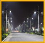 Rue lumière LED solaire avec poteau en acier galvanisé
