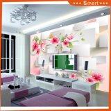 寝室のソファーの装飾のためのモモの印刷の壁紙または油絵3Dの効果の壁の壁画