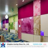 Vidro de flutuador da cor para o vidro da parede/vidro decorativo
