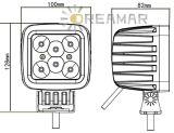 4 luz de conducción de la pulgada 30W Bridgelux LED con 2550lm