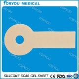 Слипчивый силикон для того чтобы снять кожу с листа геля силикона внимательности раны