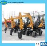 Schwere Baugeräte 7 Tonnen-hydraulischer Rad-Exkavator