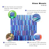 Telha azul luxuosa por atacado 3mm do mosaico do vidro manchado da cor