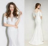 Белое платье вечера повязки повелительниц длины пола