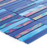 Großhandelsblaue Farben-Buntglas-Mosaik-Luxuxfliese 3mm