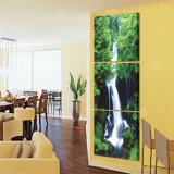 3 Stück-heißer Verkaufs-moderne Wand-Farbanstrich-Wasserfall-Farbanstrich-Raum-Dekor-Wand-Kunst-Abbildung angestrichen auf Segeltuch-Ausgangsdekoration Mc-225