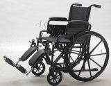 Manual de acero, elevando Legrest, sillón de ruedas, plegamiento, (YJ-005-ELV)