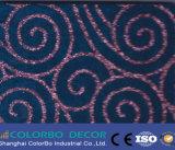 Тисненые полиэфирные волокна плата для установки на потолок или стену акустической панели
