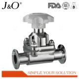 Válvula sanitária do manual do diafragma do aço inoxidável