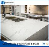 Bancada Polished da pedra de quartzo para o material de construção de superfície contínuo com alta qualidade (Calacatta)