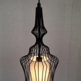 Chinesische Art-angestrichene schwarzes Vogel-Rahmen-Eisen-hängende Lampe