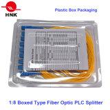 1: Tipo encaixotado 8 divisor do PLC da fibra óptica