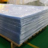 Feuille rigide transparente de vente chaude de PVC de plastique avec le film protecteur