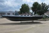 Canot automobile gonflable rigide de la Chine Aqualand 30feet 9m/bateau de pêche/bateau de sports/bateau de passager (RIB900)