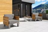 Mobiliário de madeira de teca Piscina sofá com almofadas confortáveis