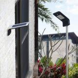 10Wは屋外IP65 PIRの動きセンサー壁に取り付けられた太陽LEDの庭ライトを防水する