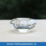 De duidelijke Houder van de Kaars van het Glas van de Diamant van het Glas