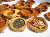 De gesneden Houten Kom van het Suikergoed van het Gedroogd fruit van de Rang van het Dienblad van de Zaden van de Spar Continentale Creatieve Houten Retro Ovale