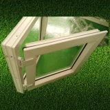 두 배 창유리 서리 건물 집을%s 유리제 백색 단면도 UPVC 여닫이 창 Windows