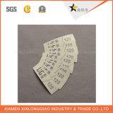 Collant personnalisé de vêtement d'impression d'étiquette tissé par tissu de modèle de vêtement de tissu