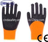 柔らかいですか熱アクリルはさみ金、塗られる乳液冬の作業手袋
