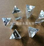 Tegenhanger van het Glas van de Presse-papier van de Kolom van de Driehoek van het Kristal van de fabrikant de In het groot