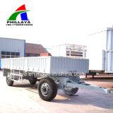 Eixos duplos dos transportes de carga do reboque completo com a parede lateral
