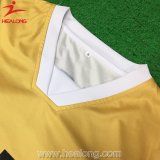 Qualquer logotipo Sublimation Green Color Soccer Tops Jersey Shirt