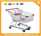 60-240 carro asiático de la carretilla del supermercado de las compras del litro con resistente