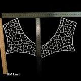 Способ 100% вышивки шнурка ткани полиэфира конструирует ворот шнурка для женщин X026