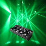 이동하는 맨 위 효력 빛 8개 피스 10W LED 거미 광속