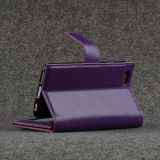 Portefeuille en cuir titulaire de la carte de couverture de téléphone mobile pour iPhone 6 / 6s
