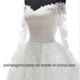 Romantisches Hochzeits-Kleid mit lange Hülsenabnehmbarem Appliques-Hochzeits-Kleid