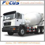Shacman 9 Cbm de Tankwagen van de Concrete Mixer met Vervangstukken de Garantie van 1 Jaar