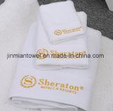 卸し売り白の100%年の綿のホテルの表面タオル、ホテルタオルおよび表面タオル