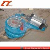 Operadas neumática giratorio de cerámica Wcb/ válvula de compuerta de disco