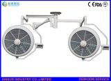 Indicatore luminoso/lampada chirurgici di di gestione LED della strumentazione dell'ospedale del soffitto registrabile della Doppio-Testa di luminosità