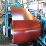 La couleur couché PPGI Galvanzied bobines en acier