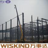 Magazzino prefabbricato della struttura d'acciaio dell'assistente tecnico di buona qualità pre nuovo
